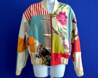 Women's Medium Vintage M. F. Cardamone patchwork Jacket