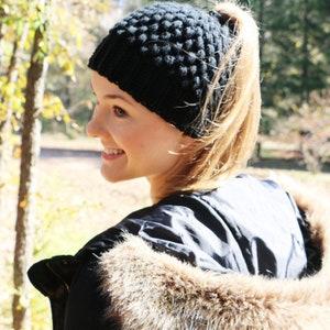 Bun Hair Accessories Bun Beanie Hat Messy Bun and Getting Stuff Done Messy Bun Beanie Ponytail Beanie Beanie Women Bun Hair