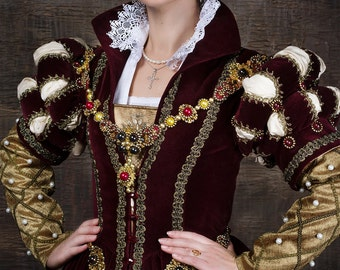 Renaissance dress Mary Stuart 16th century dress English Queen fashion. Royal  gown. Historical costume !ONLY TO ORDER! 6adcbbcc5b4e