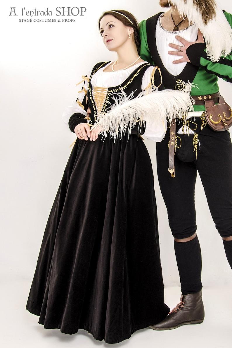 Borgia Renaissance dress Italian fashion  Medieval velvet dress  15th  century renaissance gown Lucrezia Borgia costume !!!ONLY TO ORDER!!!