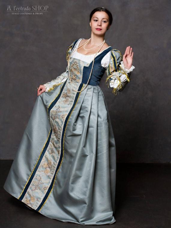 sc 1 st  Etsy & Historical costume Renaissance Italian gown medieval soft blue