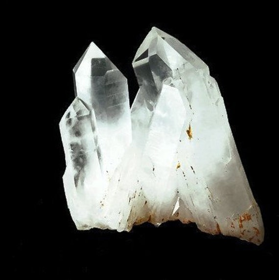 Clear Cluster with Tabby Formation and Grounding Crystal - 237 gm