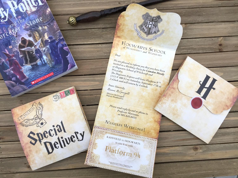 Harry Potter Invite - Harry Potter Party Invite - Digital Party ...