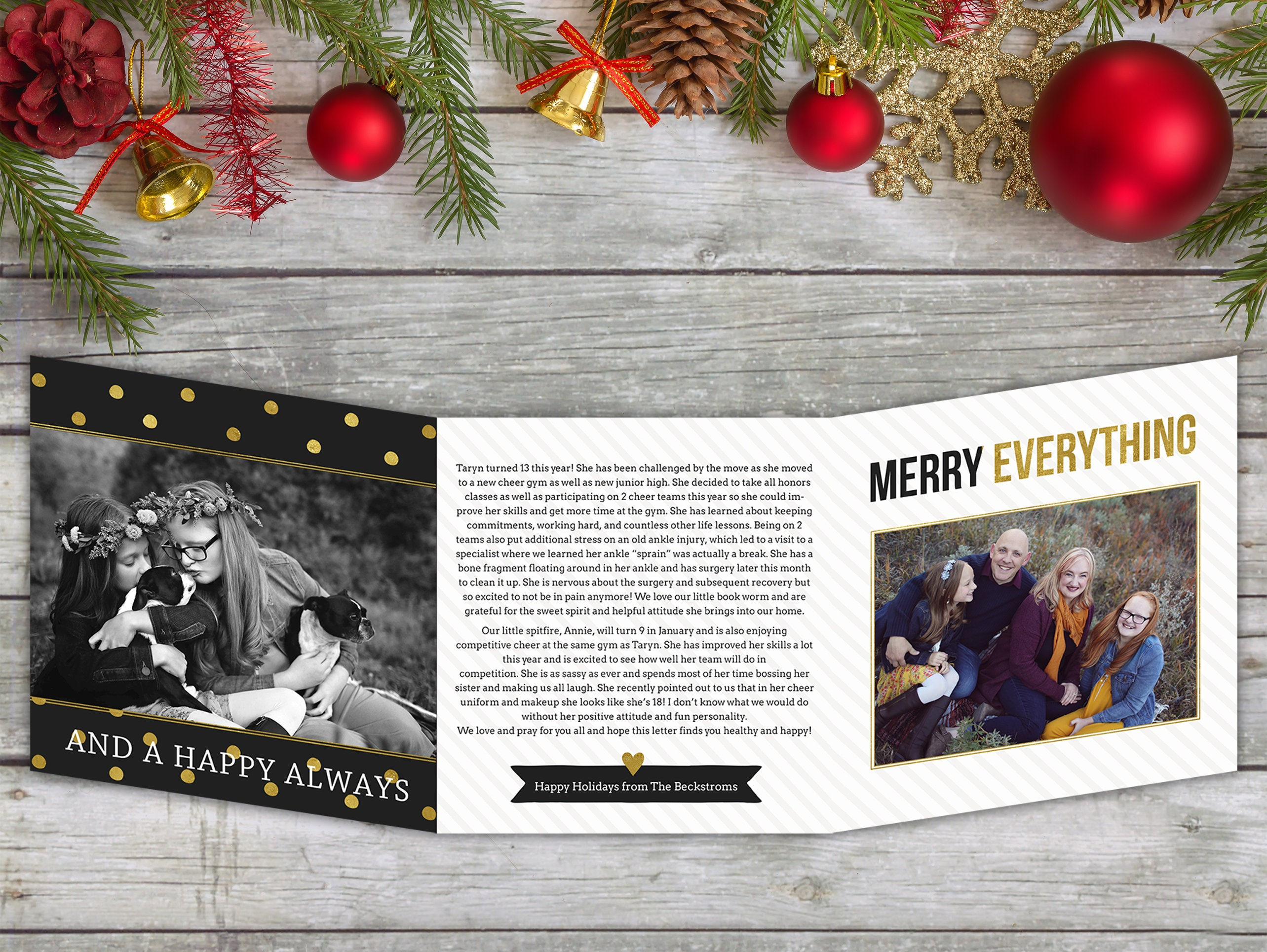 Christmas Card - Photo Christmas Card - Merry Everything - Black ...