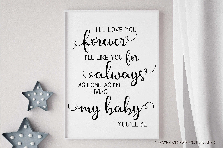 Nursery Decor 16x20 - Wall Decor - I\'ll Love You Forever - Instant ...