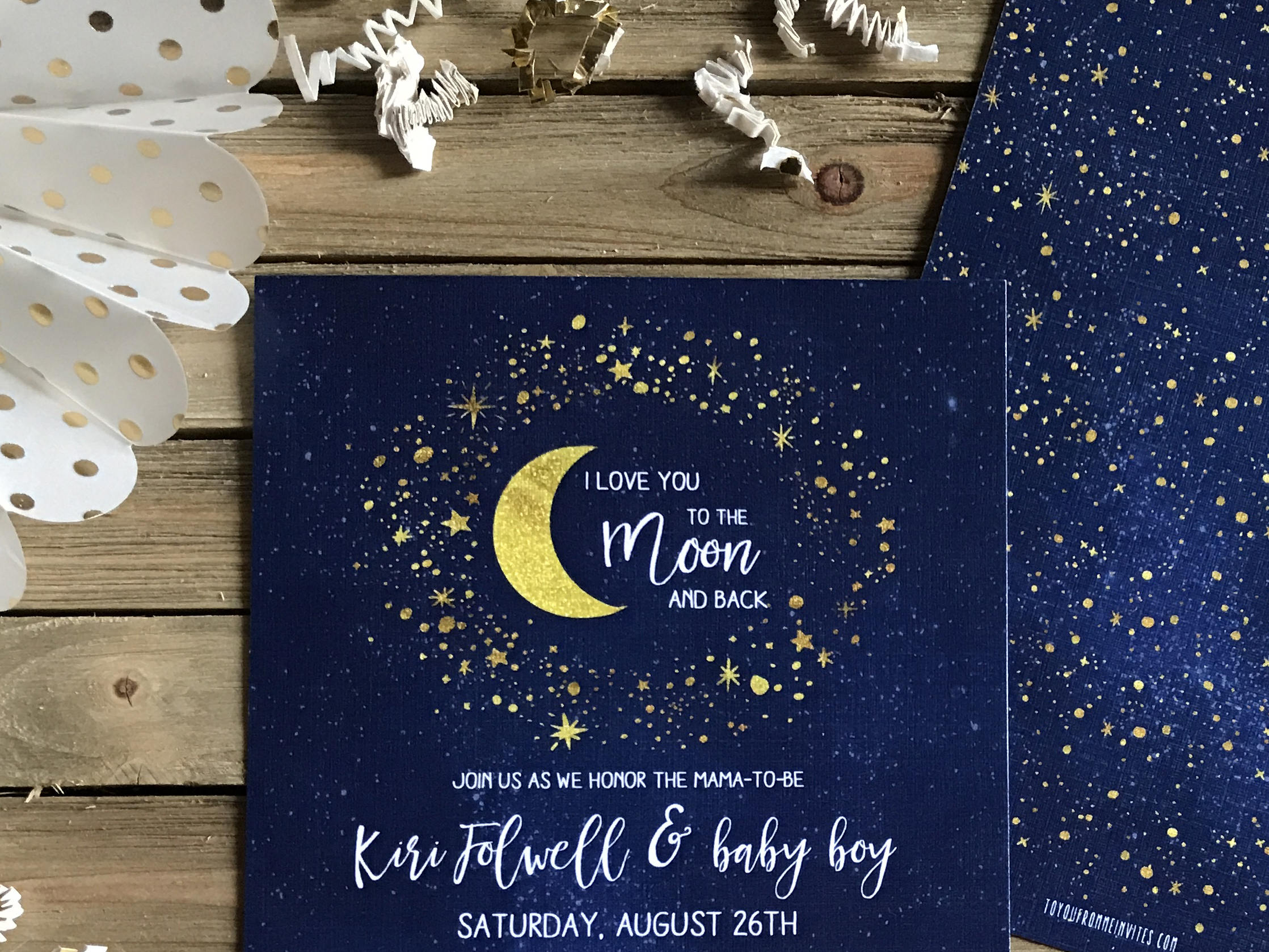 baby shower invite love you to the moon and back moon and stars