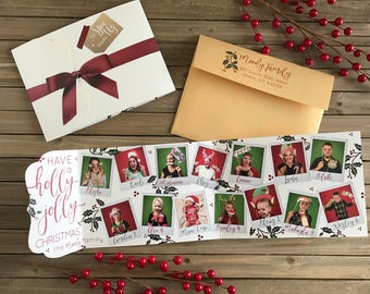 Christmas Card - Photo Christmas Card - Holly Jolly Christmas