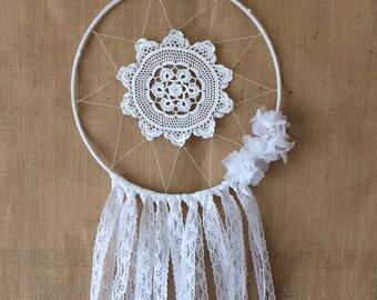 White Wedding Dream Catcher