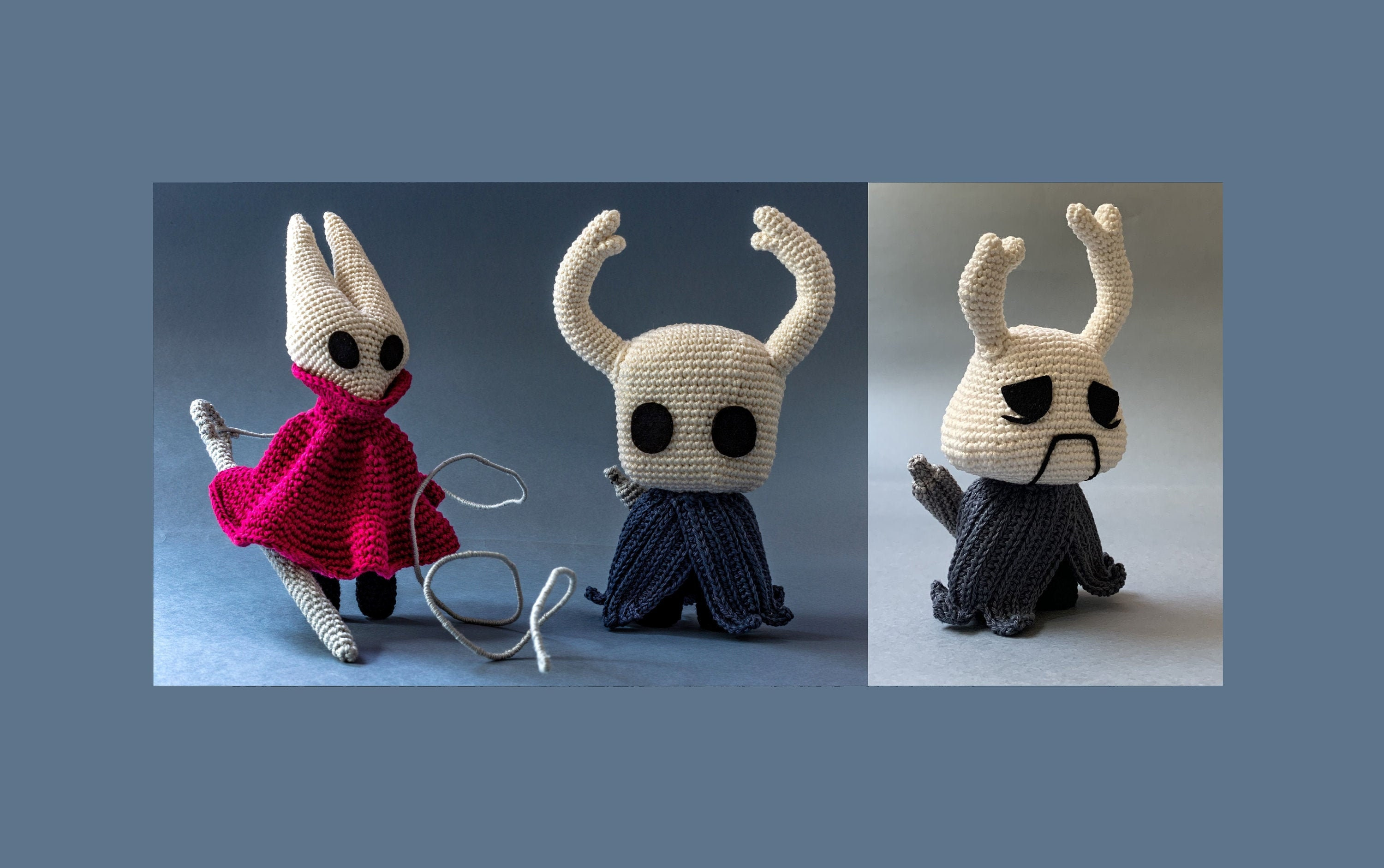 Finished crocheting these lovely Grubs from the video game Hollow ... | 1881x3000