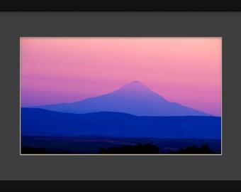 Mt. Hood in twilight pink