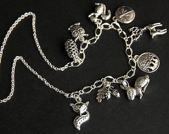 Bracelet -to- Necklace Upgrade. Charm Necklace Upgrade.  Custom Alter a Charm Bracelet into a Necklace.