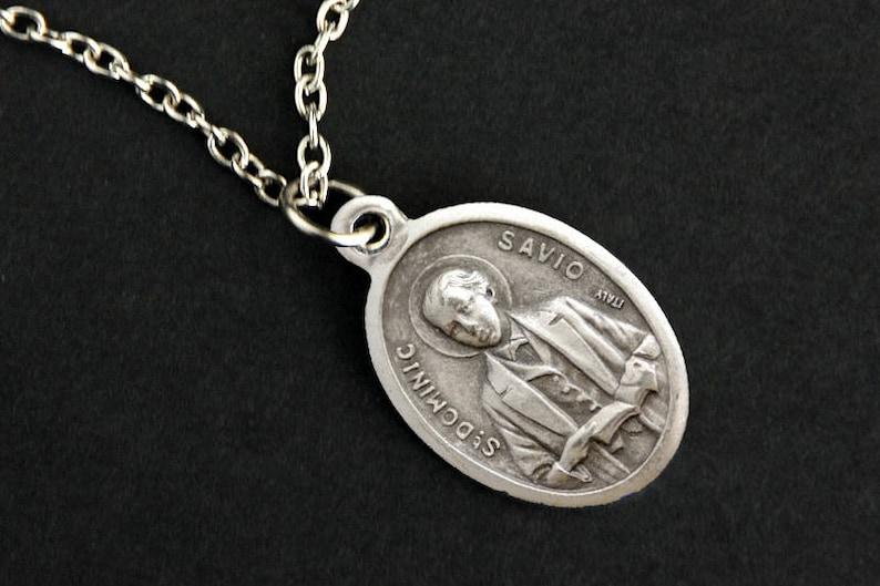Saint Dominic Savio Necklace. Catholic Necklace. St Dominic image 0
