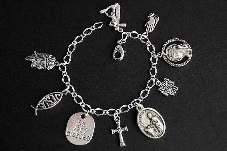 Saint Ignatius Bracelet. Christian Bracelet. St Ignatius image 0