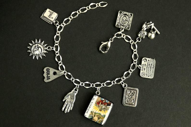 Tarot Bracelet. Judgement Charm Bracelet. Divination Bracelet. image 0