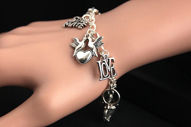 Wedding Bracelet. Bridesmaid Jewelry. Wedding Party Charm image 0