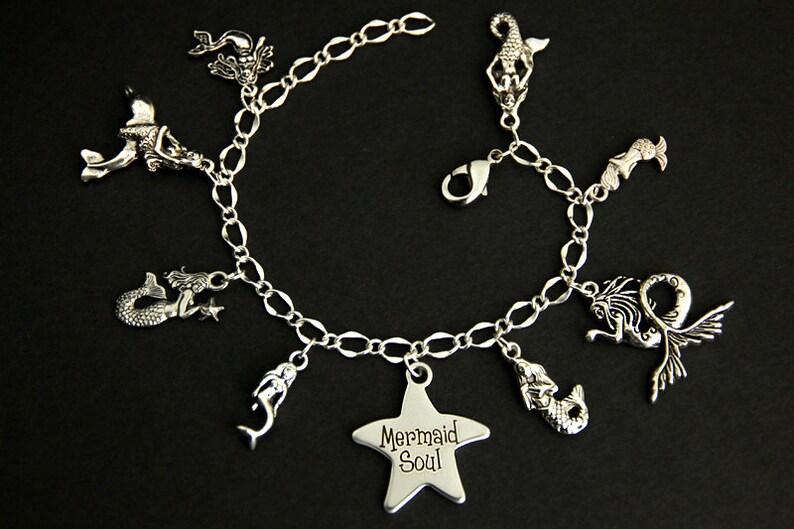 Mermaid Bracelet.  Fairy Tale Charm Bracelet. Mermaid Soul image 0