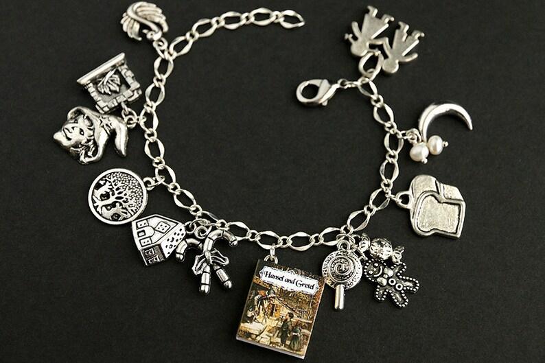Hansel and Gretel Bracelet. Brothers Grimm Charm Bracelet. image 0