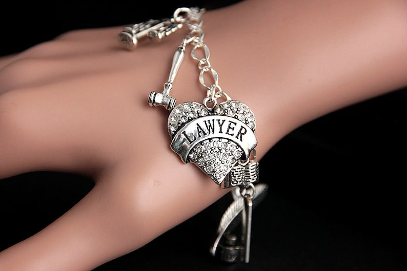 Lawyer Bracelet. Charm Bracelet. Attorney Bracelet. Law image 0