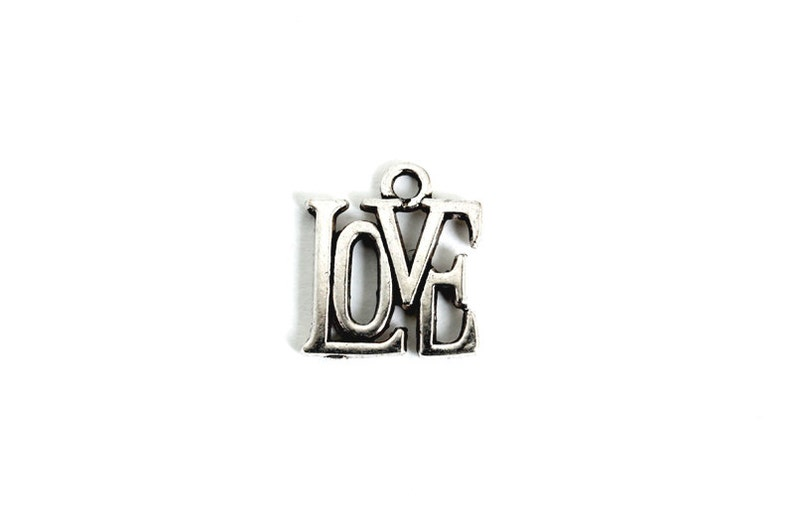 Love Charm.  Add-On Charm for Charm Bracelet or Necklace image 0