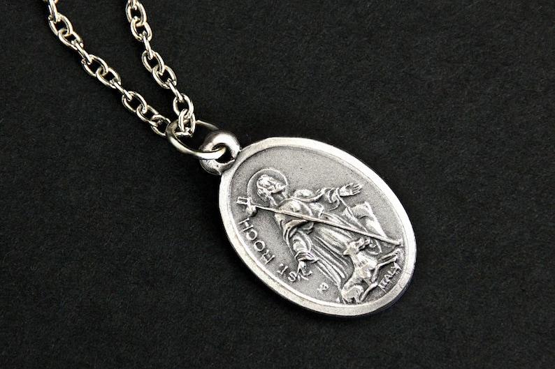 Saint Roch Necklace. Catholic Saint Necklace. St Roch Saint image 0