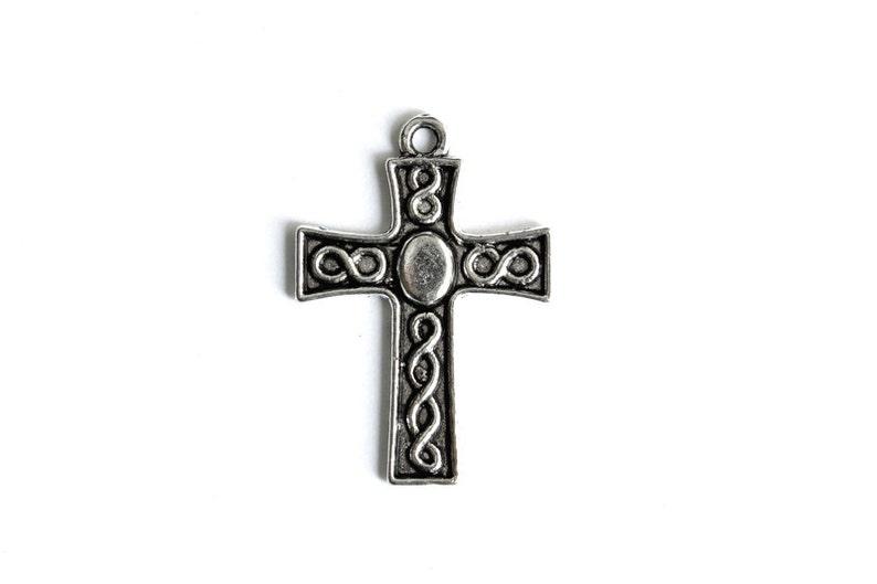 Cross Charm. Celtic Cross Charm. Add-On Charm for Charm image 0