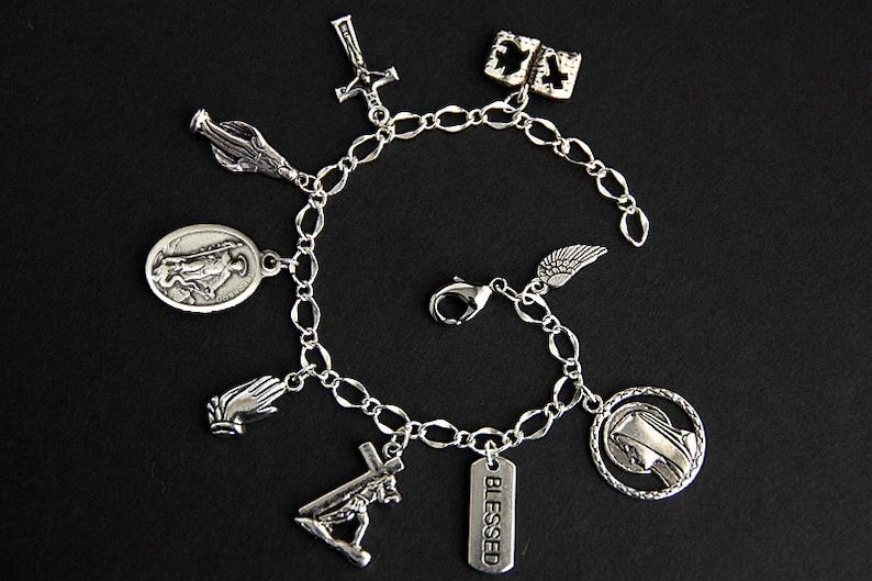 Saint Bernard Bracelet. Catholic Bracelet. St Bernard Charm image 0
