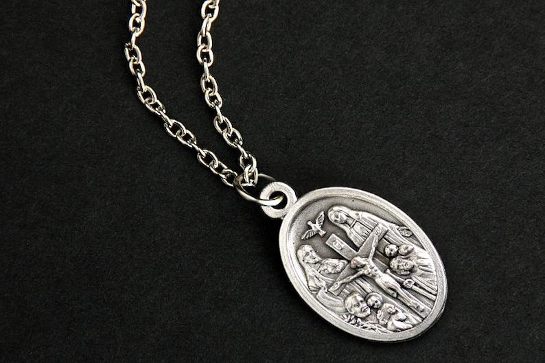 I Am A Catholic Necklace. Catholic Saint Necklace. Catholic image 0