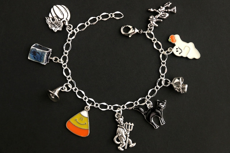 Trick or Treat Halloween Night Bracelet. Halloween Bracelet. image 0