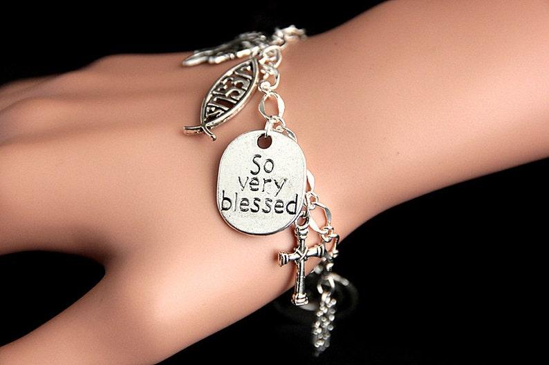 Christian Bracelet. Christian Charm Bracelet. Religious image 0