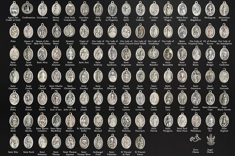 Catholic Saint Medal. Add-On Charm for Bracelet Charm or image 0