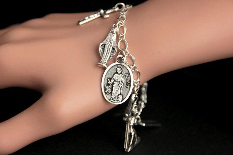 Saint Mark Bracelet. Catholic Bracelet. Patron Saint Bracelet. image 0
