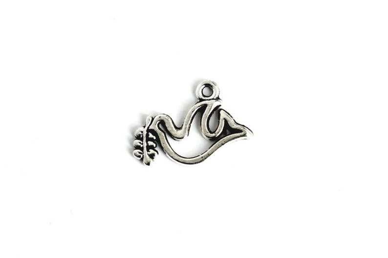 Dove of Peace Charm. Dove Charm. Add-On Charm for Charm image 0