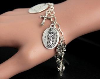 Saint Apollonia Bracelet. Catholic Bracelet. St Apollonia Charm Bracelet. Catholic Jewelry. Religious Jewelry. Handmade Jewelry