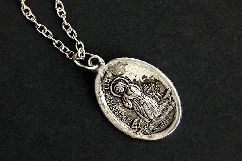 Saint Bernadette Necklace. Catholic Saint Necklace. St image 0