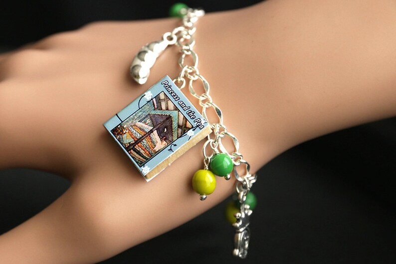 Princess and the Pea Bracelet. Hans Christian Andersen Charm image 0