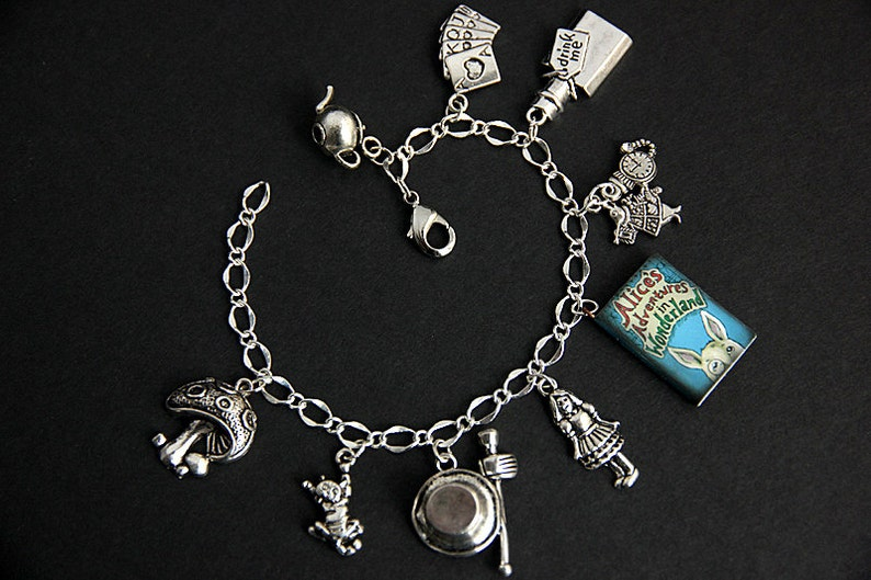 Wonderland Bracelet.  Wonderland Charm Bracelet. Alice's image 0