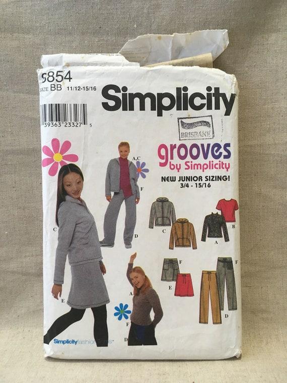Simplicity 8854 Junior Schnittmuster Teen Hoodie | Etsy