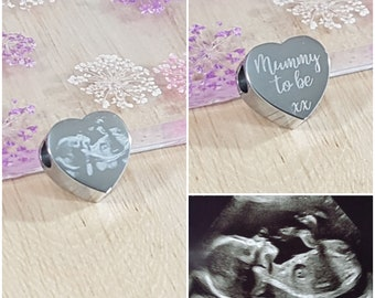 Charms & Charm Bracelets Memorial Gift Personalised Holographic Engraved Heart Charm Funeral Memory Of