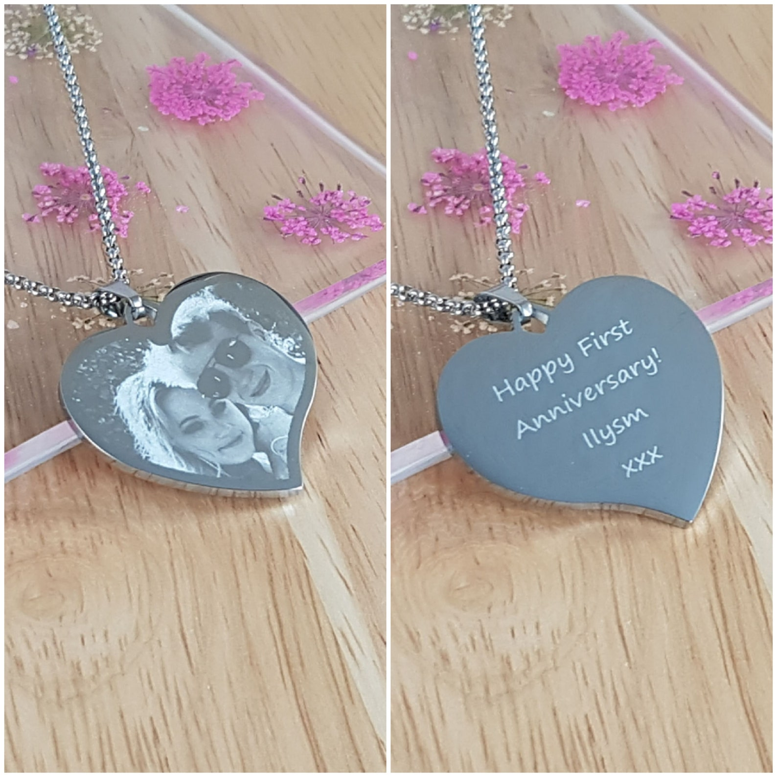 Photo Engraved Necklace