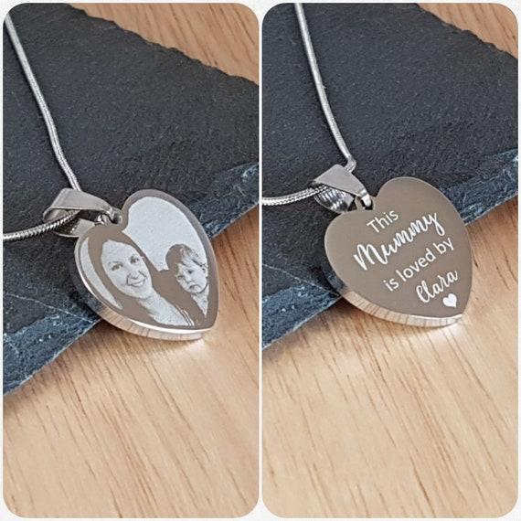 Photo Engraved Heart Pendant