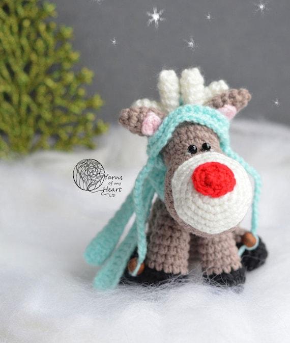Crochet Reindeer Pattern Christmas Reindeer Crochet Pattern Etsy