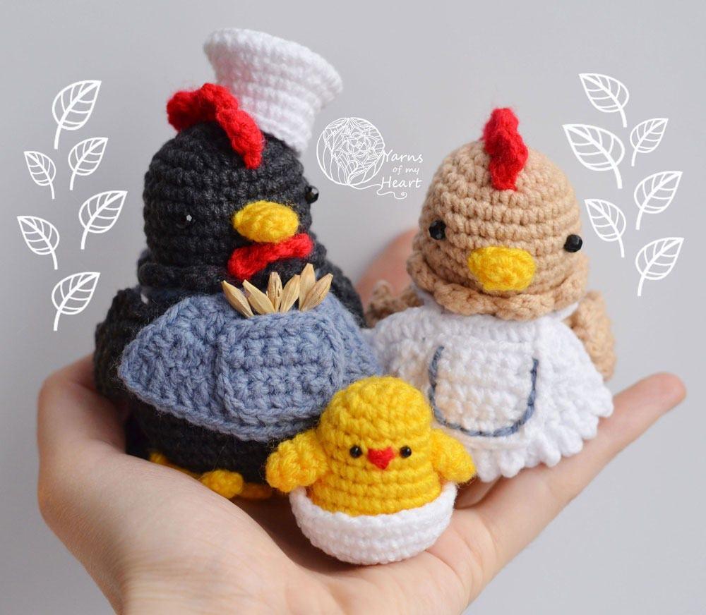 Crochet rooster pattern, rooster crochet pattern, crochet chicken ...