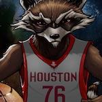 Houston Rocket | Houston Rockets & Rocket Raccoon/ Guardians of the Galaxy mashup