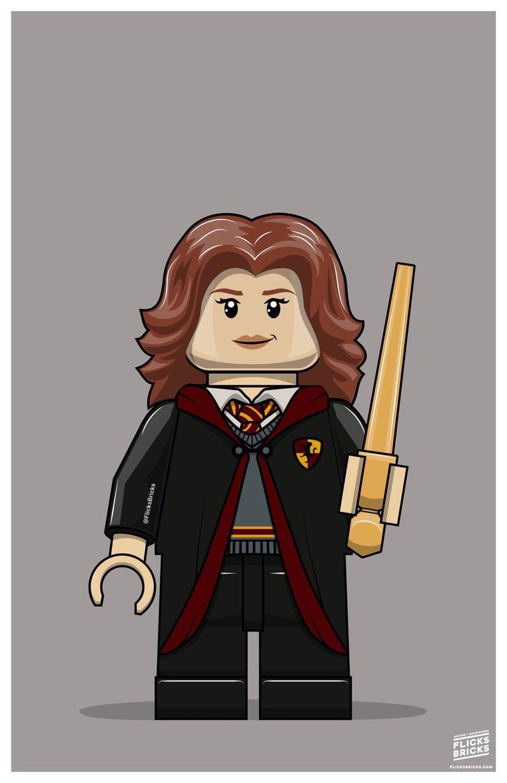 FlicksBricks: Hermione Granger  Custom Lego Art  Hogwarts  image 0