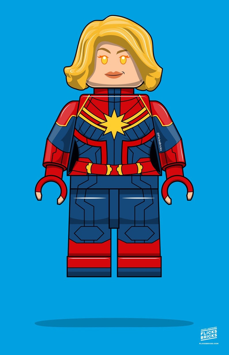 FlicksBricks: Captain Marvel  Custom Lego Art  Marvel  image 0