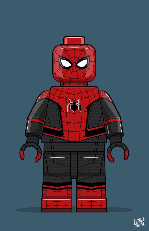 FlicksBricks: Spiderman  Custom Lego Art  Marvel  Far From image 0