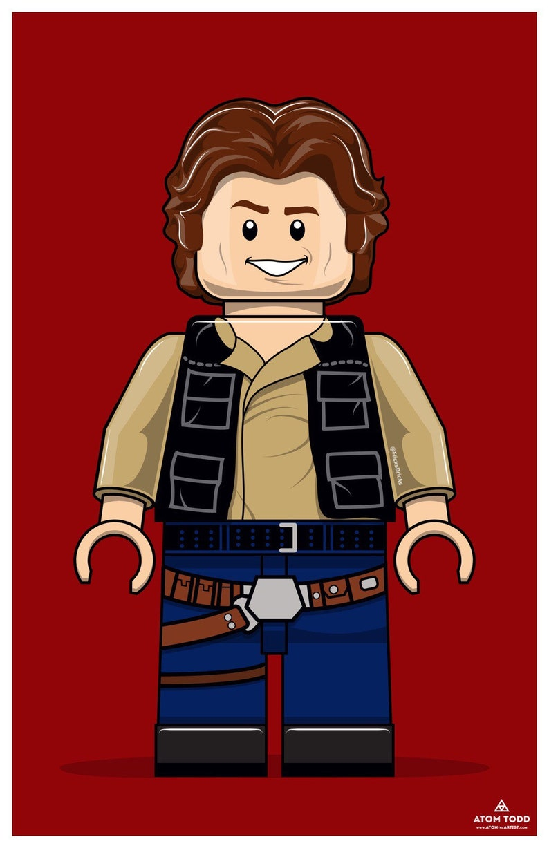 FlicksBricks: Han Solo  Custom Lego Art  Star Wars  image 0