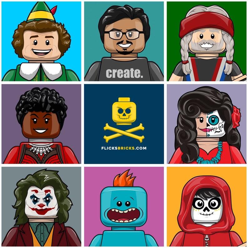 FlicksBricks: Custom Headshot Commission GET LEGOFIED image 0
