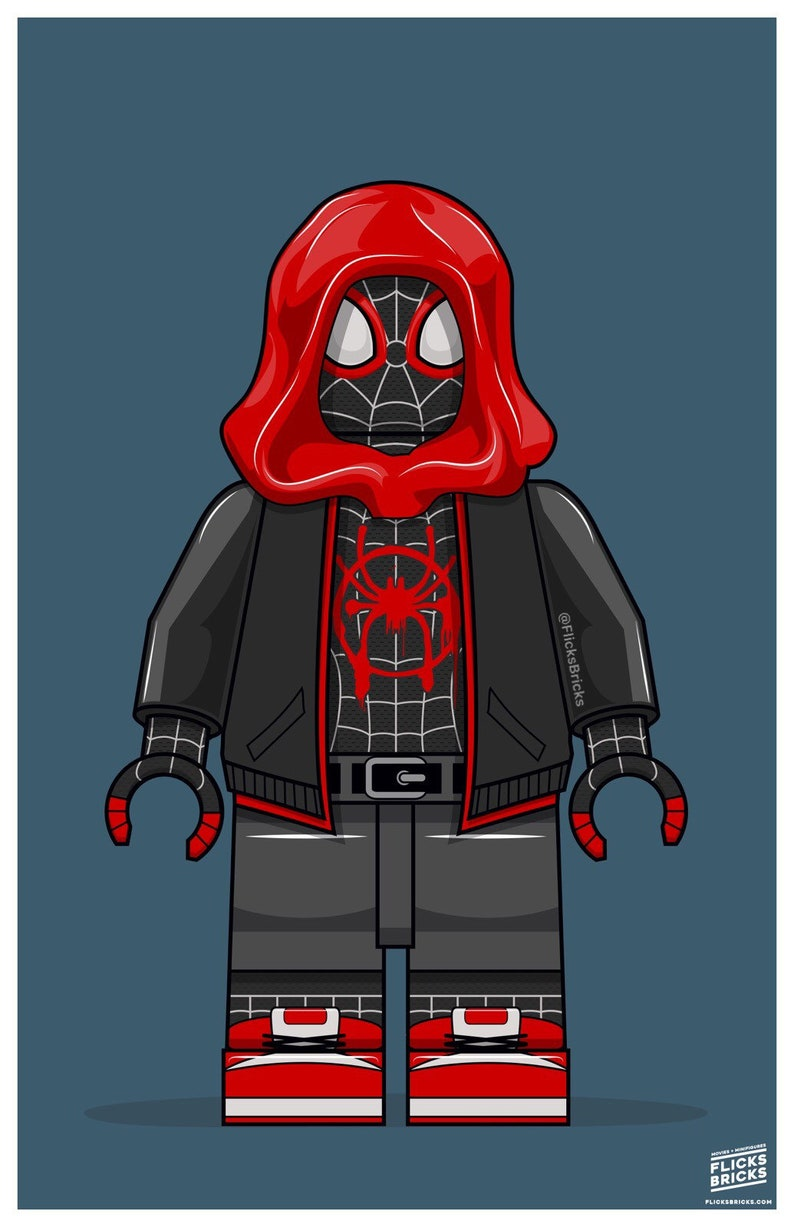 FlicksBricks: Miles Morales Spiderman  Custom Lego Art  image 0