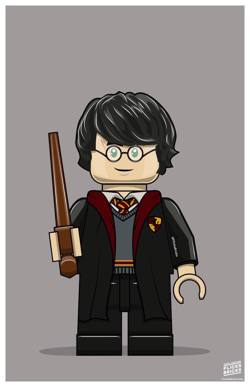 FlicksBricks: Harry Potter  Custom Lego Art  Hogwarts    image 0